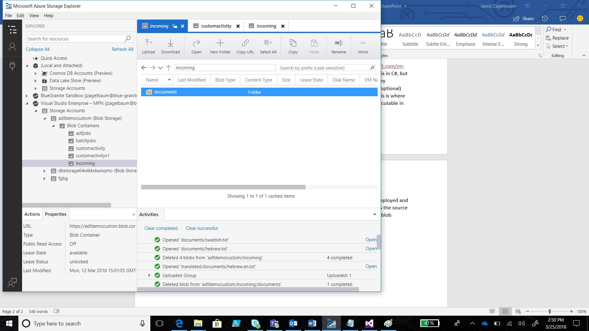 Custom Activities in Azure Data Factory with Microsoft AI Platform