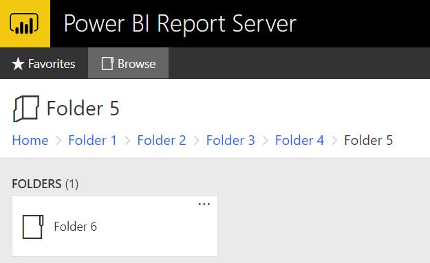 5 - PBIRS Nested Folders