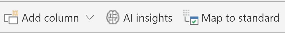 Power BI AI Insights in top menu bar
