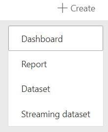 Power BI Create Streaming Dataset