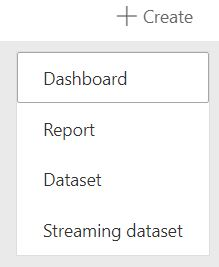 Power BI Create Streaming Dataset