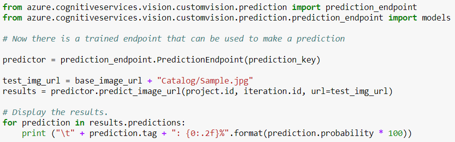 CustomVision-SamplePredictionWithPython