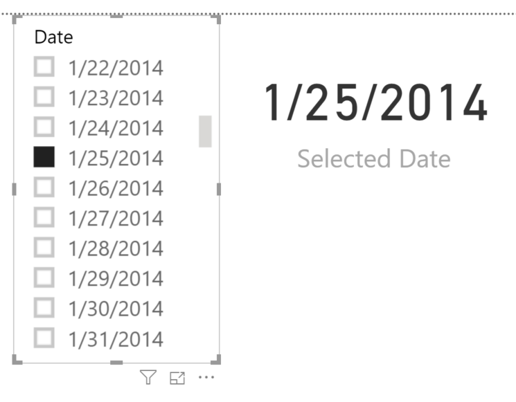 Disconnected table power bi 5