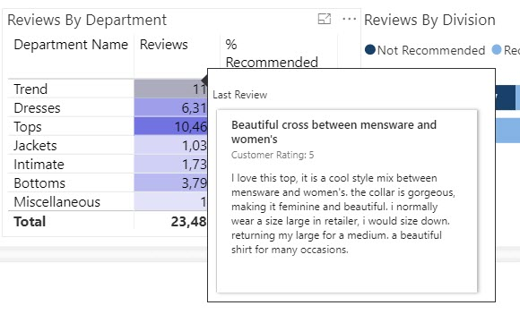 Power BI Showcase: Online Retail Reviews