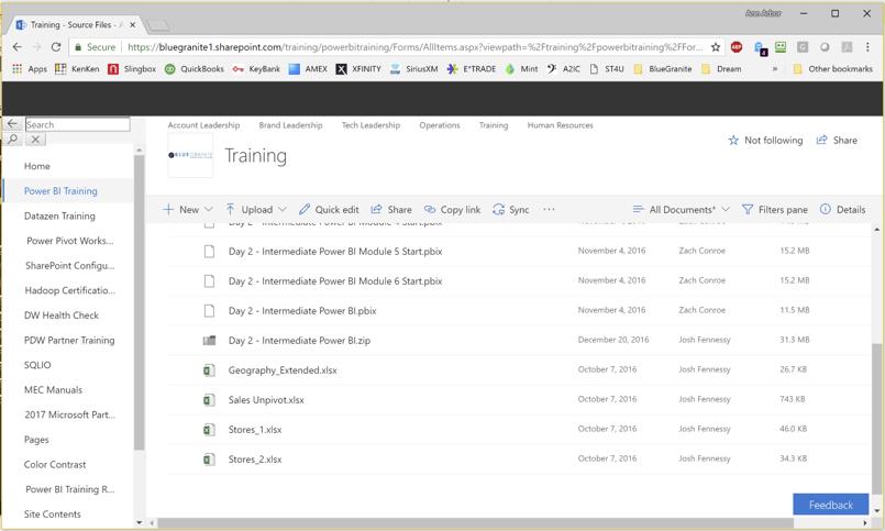 SharePoint Folder Data