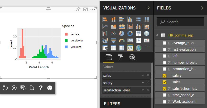 Tutorial - Power BI - Interactive R Visual
