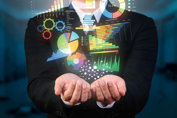 businessman holding data visualization-1