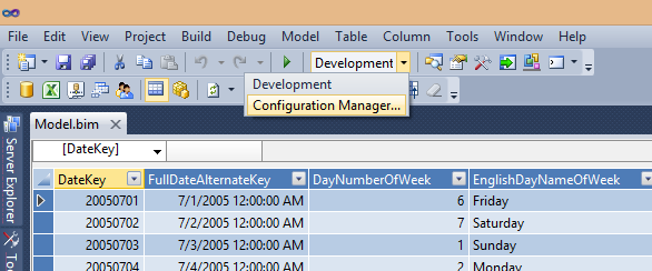 Open the configuration manager