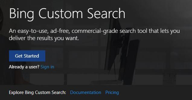 Bing Custom Search