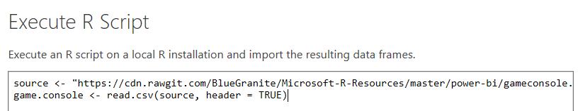 Execute R Script