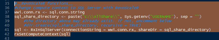 RevoScaleR package