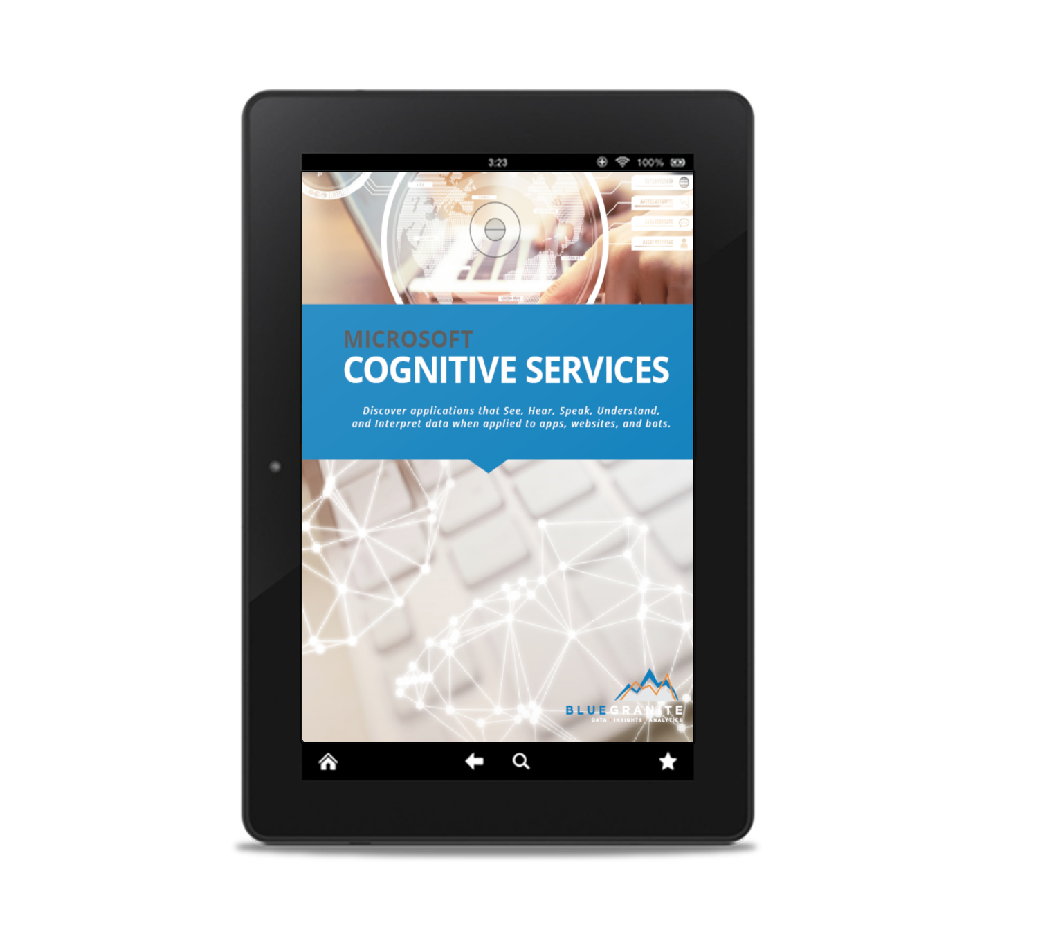 microsoft cognitive services ebook cover on tablet