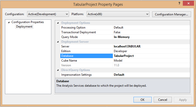 Open the project properties
