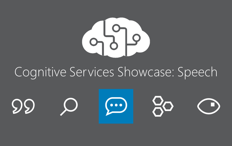 Cognitive Services Showcase: API Speech Tools